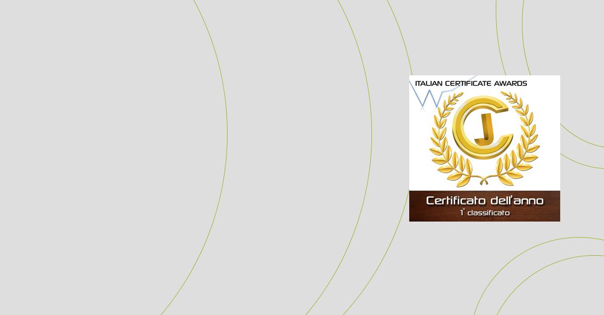 1° premio Miglior Broker all'Italian Certificate Award